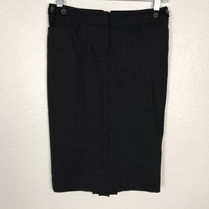 Club Monaco Straight Striped Wool Stretch Skirt